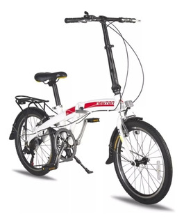 Bicicleta Plegable Newton Aluminio Liviana 7 Velocidades