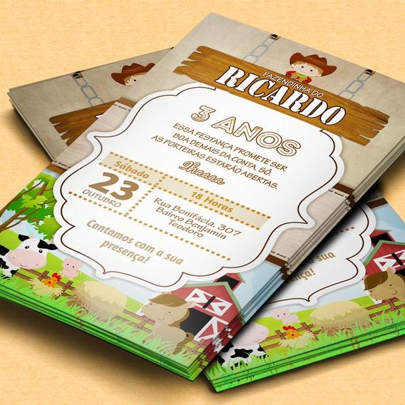 Convite Digital Whatsapp Tema Fazendinha (promoção)