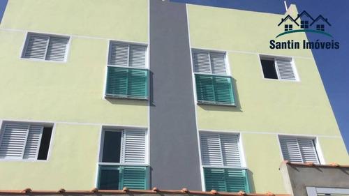Cobertura Com 2 Dormitórios (01 Suíte ) À Venda, 110 M² Por R$ 285.000 - Jardim Das Maravilhas - Santo André/sp - Co0227
