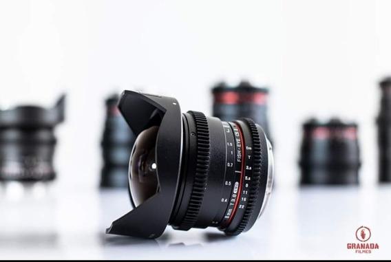 Lente Rokinon 8mm T3.8 Mount Canon Ef