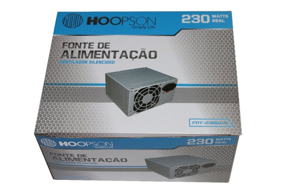 Fonte Computador Atx 230w Real Hoopson