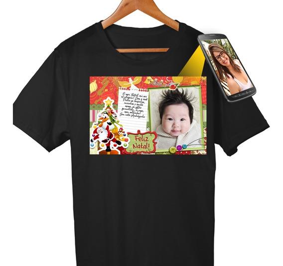 Camiseta Personalizada Dia Das Mães Com Foto E Qr Code