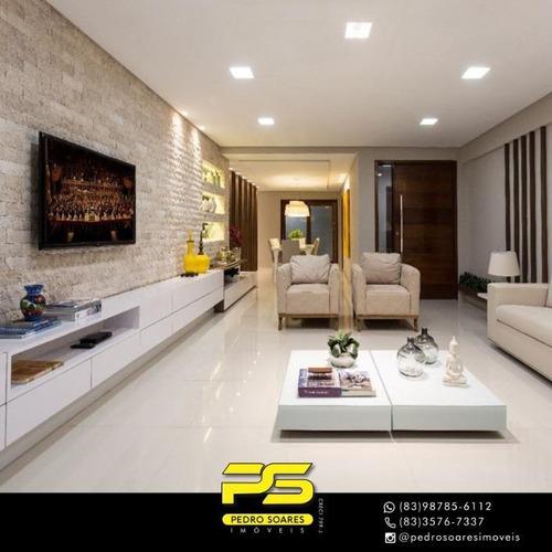 Apartamento Com 3 Dormitórios À Venda, 245 M² Por R$ 2.200.000,00 - Altiplano Cabo Branco - João Pessoa/pb - Ap4152