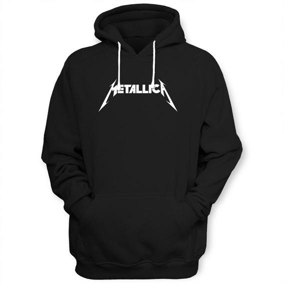 Sudadera Metallica Con Gorro Y Bolsas Al Frente