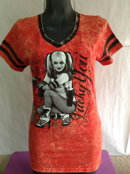 Suicide Squad Harley Quinn Playera Original Dama Hot Topic