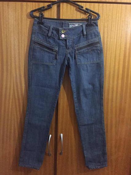 Calça Jeans Feminina Carmim Tamanho 36 Usada 1 Vez