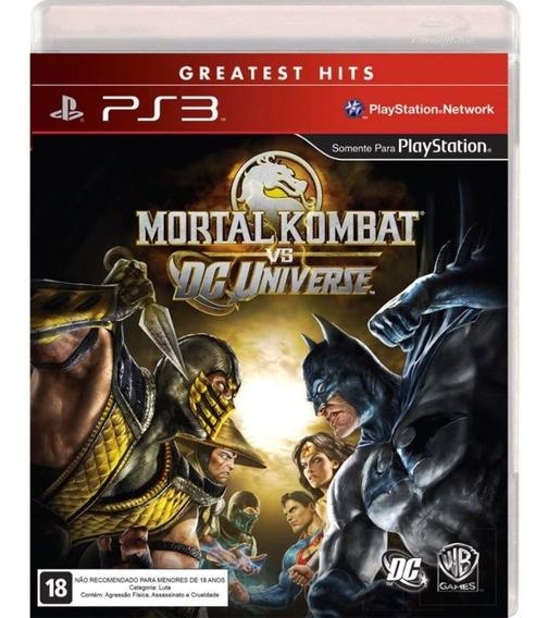 Jogo Novo Midia Fisica Mortal Kombat Vs Universo Dc Para Ps3