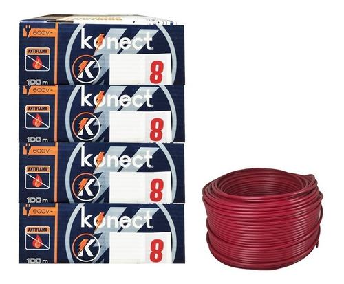Imagen 1 de 1 de Cable Electrico Cca Konect Calibre 8 Rojo 100 Metros 4 Pzs