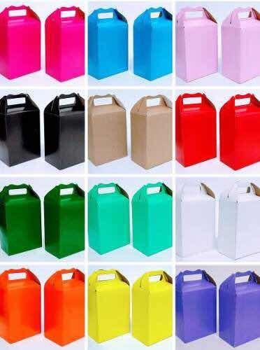10 Cajas Fiesta Dulceros Color A Elegir