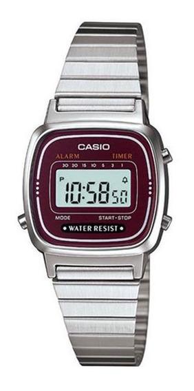 Relógio Feminino Digital Casio Vintage La670wa-4df - Prat