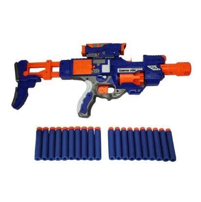 Pistola N Rifle Sniper 20 Dardos Automática Estilo Nerf