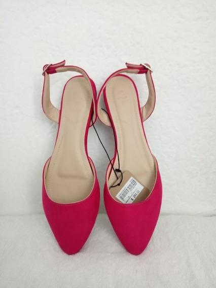 Flats Zapato Bajo Color Fucsia Talla 25 C&a