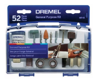 Kit Multiuso Dremel 687 52 Accesorios Para Mini Torno Caja