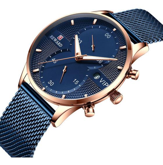 Relógio De Quartzo Homem Relógio De Pulso Para Esportes Azul
