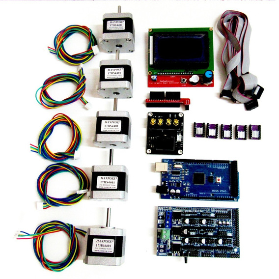 Kit 05 Motores + Arduino + Ramps 1.6 + Lcd+ Drivers+ Mosfet