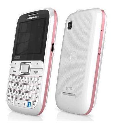 Carcaça Ex117 Motorola Nova Original C/ Tampa Teclado
