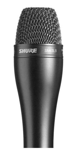 Microfone Preto Shure Sm63lb