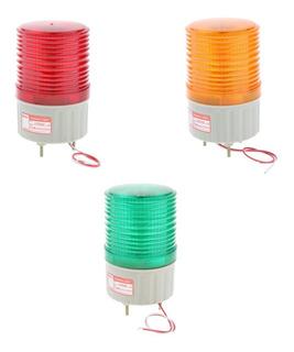 3pcs Lámpara De Seguridad Luz Intermitente Señal Casa De
