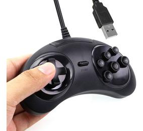 Controle Mega Drive Joystick Usb Jogos Emulador Pc - Sega.