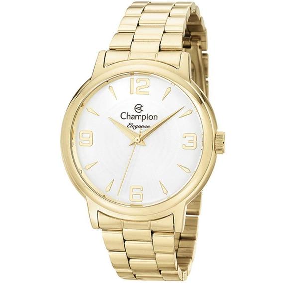 Relógio Champion Elegance Feminino Dourado Cn26126h Original