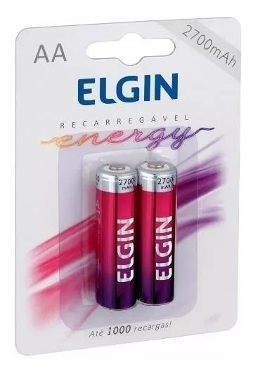 10 Blister Com 02 Pilhas Recarregáveis Elgin Aa