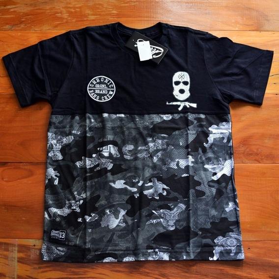 Camiseta Chronic Camuflada Preto