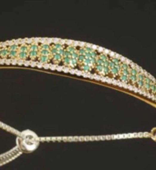Bracelete, Pulseira De Prata Turca Ajustável Em Rubi