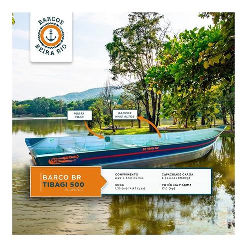 Bote De Aluminio Beira Rio Tibagi 500 Modelo Bicudo