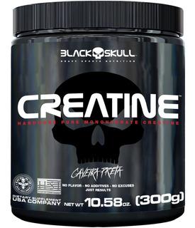 Creatina Black Skull 300g Caveira Preta