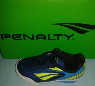 Tênis Futsal Infantil Penalty Azl/vrd