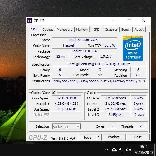 Processador Pentium G3250 3.20ghz