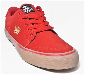 Tênis Mad Bull Logo Vermelho Skate Shoes