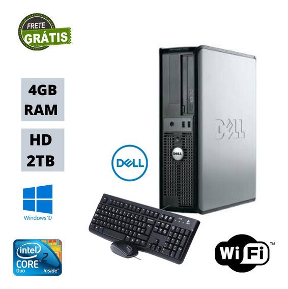 Cpu Dell Optiplex 320 Core 2 Duo 4gb Hd 2tb Win10 Brinde !