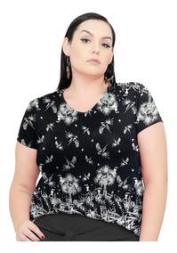 Roupa Feminina Blusa Bata Gola V De Malha Plus Size