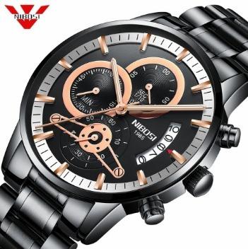 Relógio Masculino Nibosi Original Analogic Funcional
