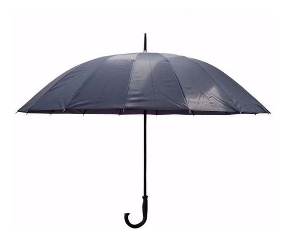 Paraguas Foco Liso 130cm De Diametro 96cm De Alto