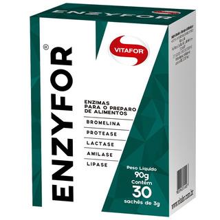 Enzyfor Vitafor Mix De Enzimas Digestivas Com 30 Saches