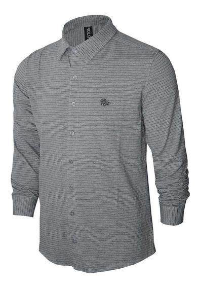 Camisa Social Slim Listras Polo Rg518 17846