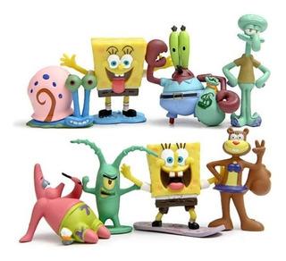Bob Esponja Set 8 Figuras