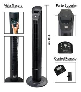 Ventilador Torre 110 Cm Oster Programable Silencioso Control