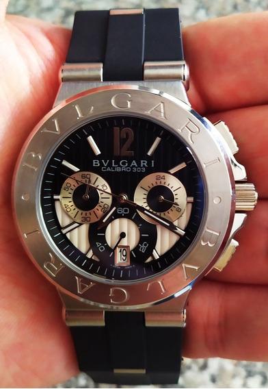 Reloj Bvlgri Cuarzo Cronografo Fechador