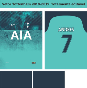 Vetor Tottenham 2018-2019 Third Totalmente Editável