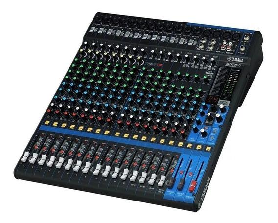 Mesa De Som Yamaha Mg20xu 20 Canais Com Efeito + Usb + 1 Ano De Garantia + Nota Fiscal