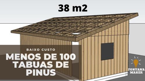 Casa De Madeira Pre Montada Projeto 3d Grátis Leia Descrição