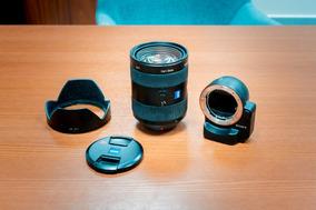 Lente Sony 24-70mm F/2.8 + Adaptador A-mount/e-mount Leae4