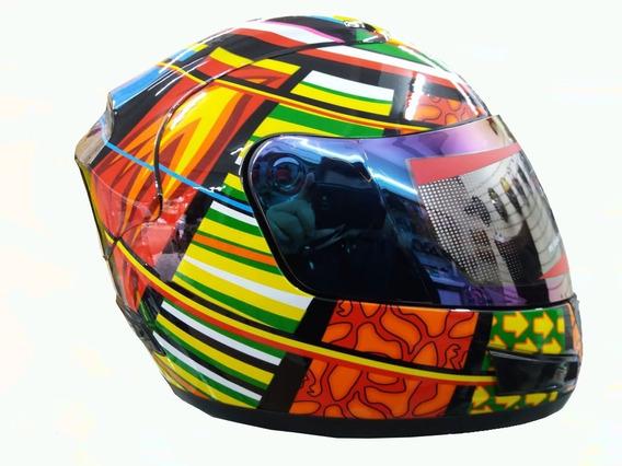 Capacete Valentino Rossi Elementos 2 Viseiras