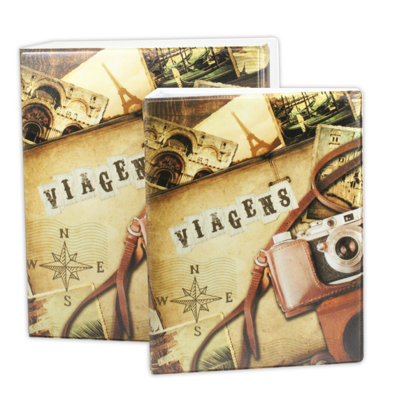 Álbum Viagens Trip Para 500 Fotos + Caixa 10x15 171765