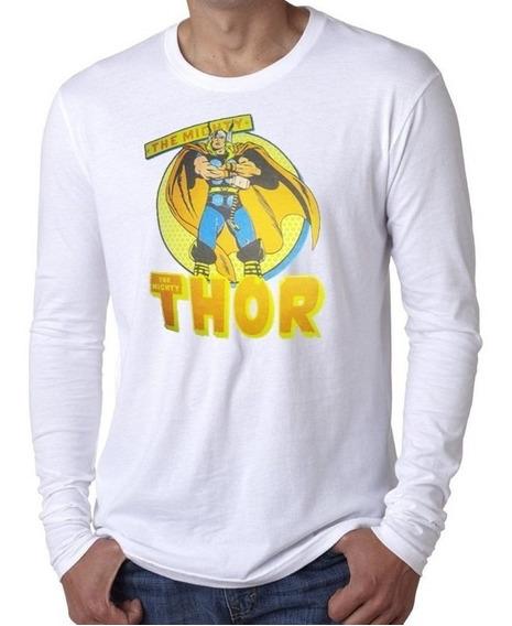 Playera Económica L Alg - Pol. Manga Larga Sublimado Thor