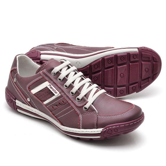 Sapatênis Em Couro Legítimo Sapato Tênis Conforto Homem
