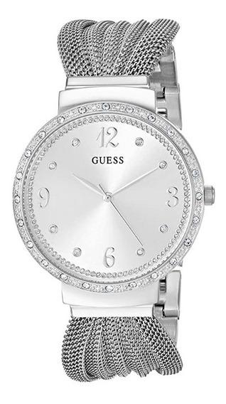 Relógio Feminino Prateado U1083l1 Guess Classico